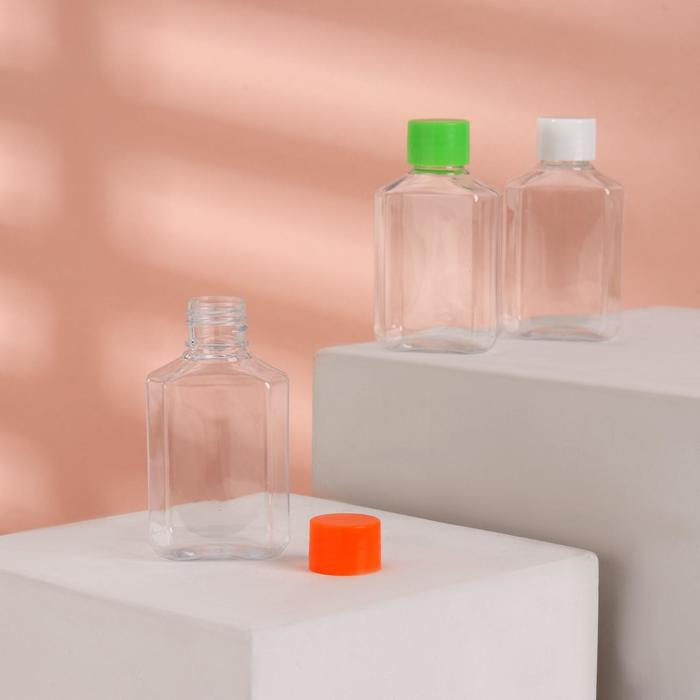 Бутылочка для хранения, 60мл, цвет МИКС