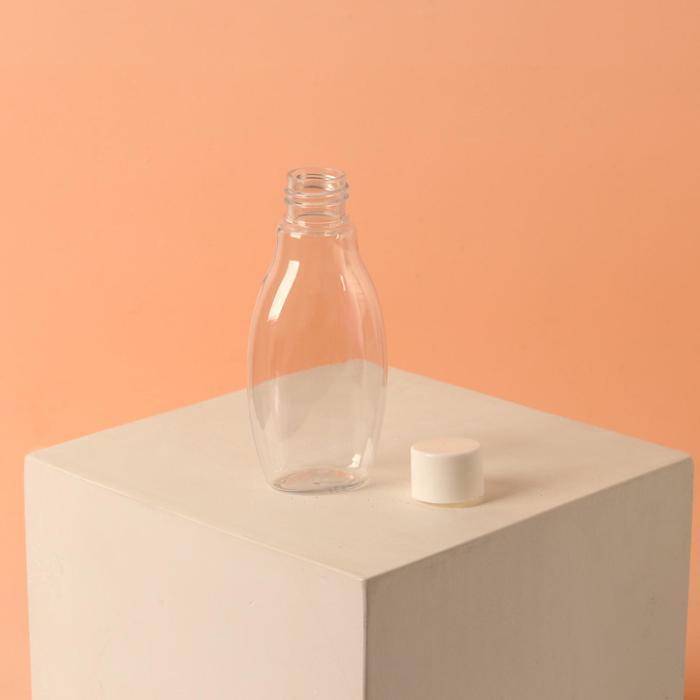 Бутылочка для хранения, 60мл, цвет белый