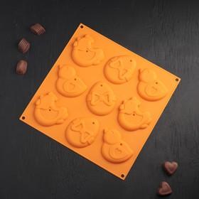 Форма для шоколада Доляна «Пасха», 30,5×1,5 см, 9 ячеек, цвет МИКС