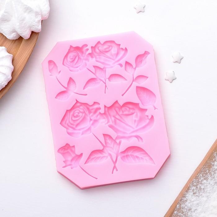 """Молд силиконовый 12×9 см """"Розы"""" - фото 308041886"""