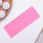 """Коврик для айсинга 18,6х6,9х0,5 см """"Сердце"""", цвет розовый"""