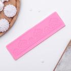 """Коврик для айсинга 18,7х4,9х0,6 см """"Веера"""", цвет розовый"""