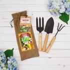 """Набор садового инструмента """"Лучший садовод"""" грабли, совок, вилы"""