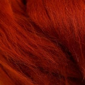 Шерсть для валяния 100% полутонкая шерсть 50 гр (051 терракот) МИКС - фото 7473493