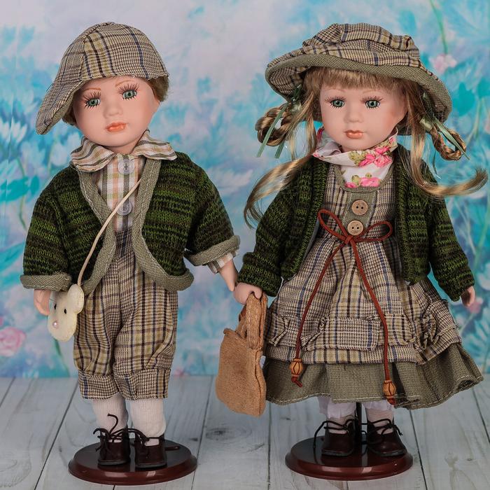 """Кукла коллекционная парочка """"Марисса и Марсель"""" (набор 2 шт) 30 см"""
