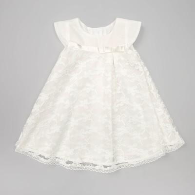 Платье для девочки, рост 68 см, цвет молочный ПЛ199 _М