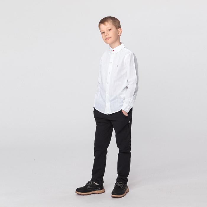 Сорочка верхняя для мальчика, рост 128 см, цвет белый РБ93