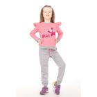 Комплект для девочки (кофта,брюки), рост 98-104 см, цвет розовый D1802-1