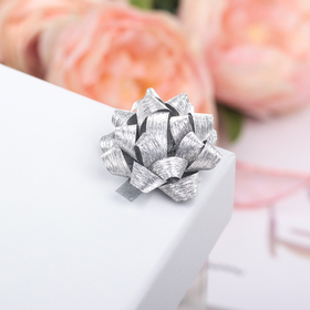 Bow star No. 3.5 (PACKING 8 PCS) with sequins, color silver