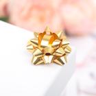 Бант-звезда №3,5 (ФАСОВКА 8 ШТ) простой, золотой