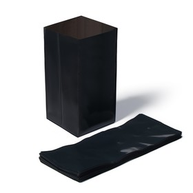 Package for sprouts, 3 l, 27 × 35 cm, thickness 60 µm, with perforation, black