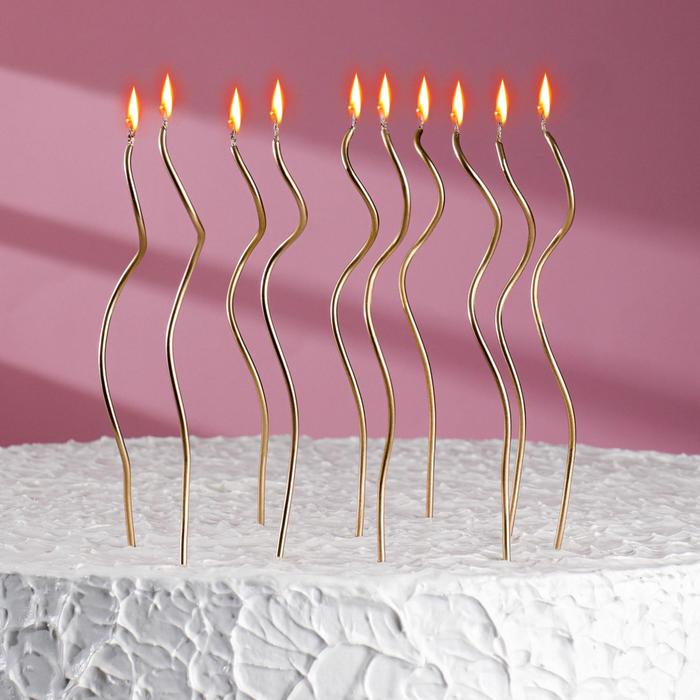 """The candles in the cake """"happy birthday"""" 10 PCs, cocktail, Golden"""