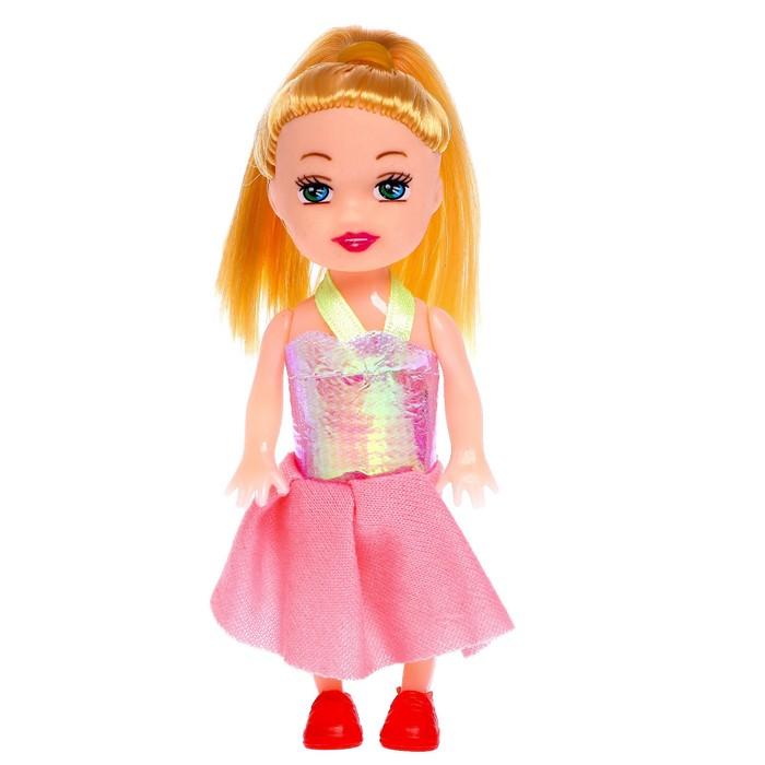 Кукла малышка «Рита» в платье, МИКС - фото 106523579