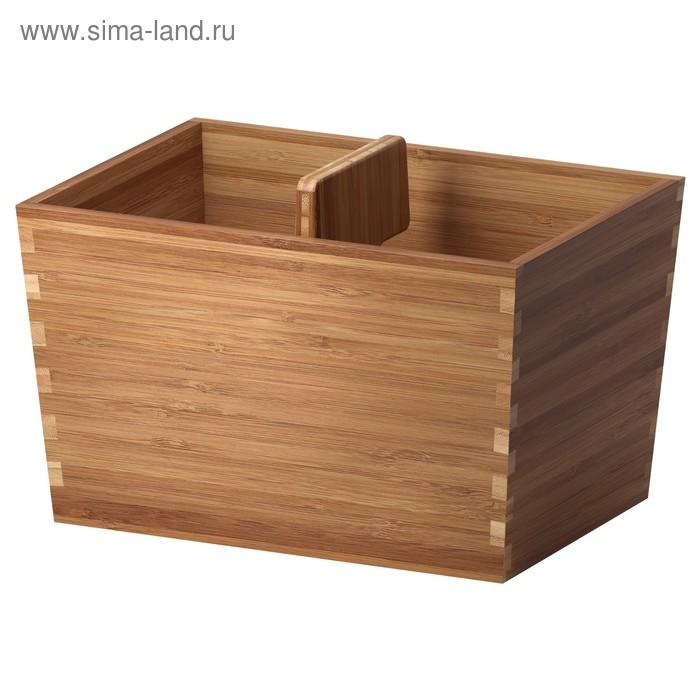 Ящик с ручкой ВАРЬЕРА, 24x17 см, бамбук