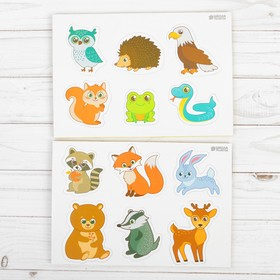 "Educational magnets ""Forest animals"", set of 12 PCs."