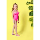 """Купальник слитный для девочки """"Модница"""", рост 128-134 см (8-9 лет), цвет розовый"""