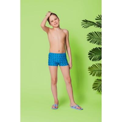"""Трусы купальные для мальчика """"Ящер"""", рост 152-158 см (12-13 лет), вид 1, цвет синий"""