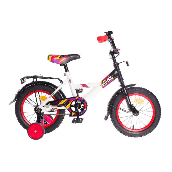 """Велосипед 14"""" Graffiti Classic RUS, цвет белый/чёрный"""