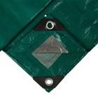 Тент защитный, 5 × 4 м, плотность 120 г/м², люверсы шаг 1 м, зелёный/серебристый