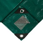Awning protective, 5 × 4 m, density 120 g/m2, green/silver