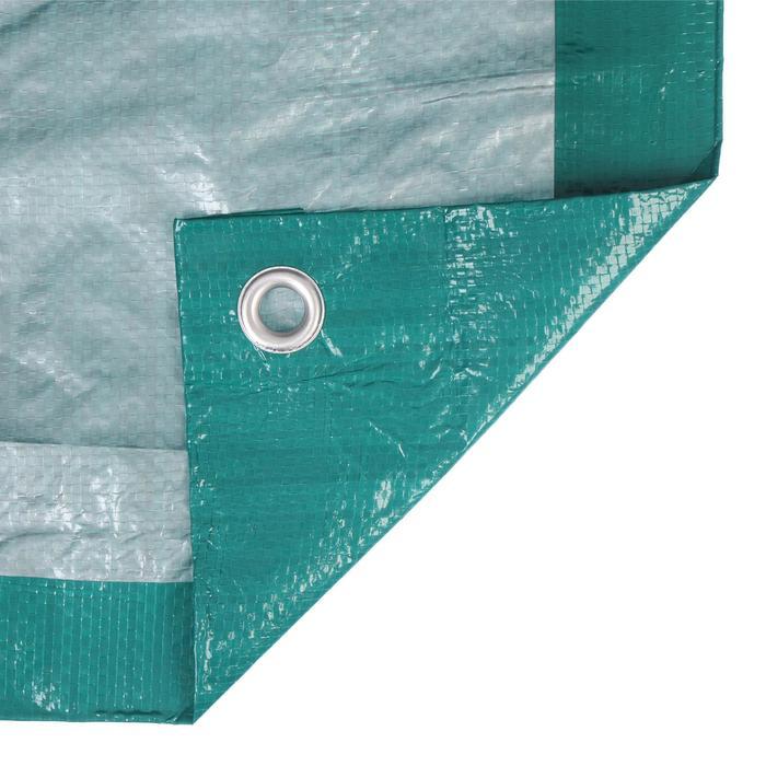 Тент защитный, 6 × 4 м, плотность 120 г/м², зелёный/серебристый
