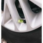 Колпачки на вентиль TORSO рифленые, зелёные, набор 4 шт.