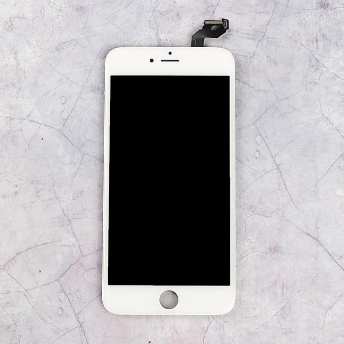 Дисплей для iPhone 6S Plus + тачскрин белый с рамкой, качество AAA+