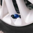 Колпачки на вентиль TORSO граната, синие, набор 4 шт.