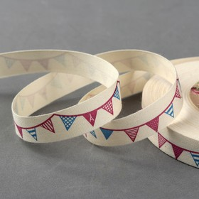 Tape cotton Flags, 15mm, 23±1m, beige