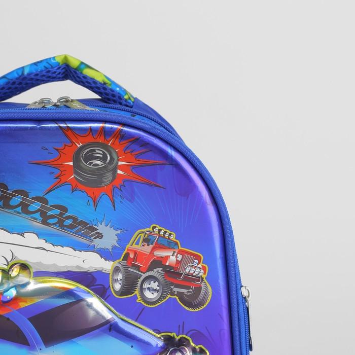 Рюкзак школьный, 2 отдела на молниях, 2 боковые сетки, цвет синий - фото 405940371