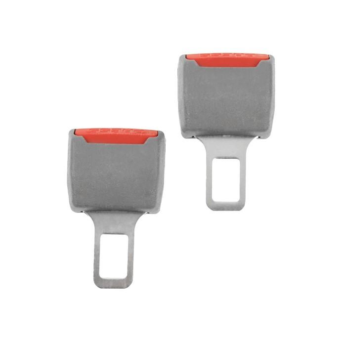 Заглушка ремня безопасности, серый, набор 2 шт - фото 234639