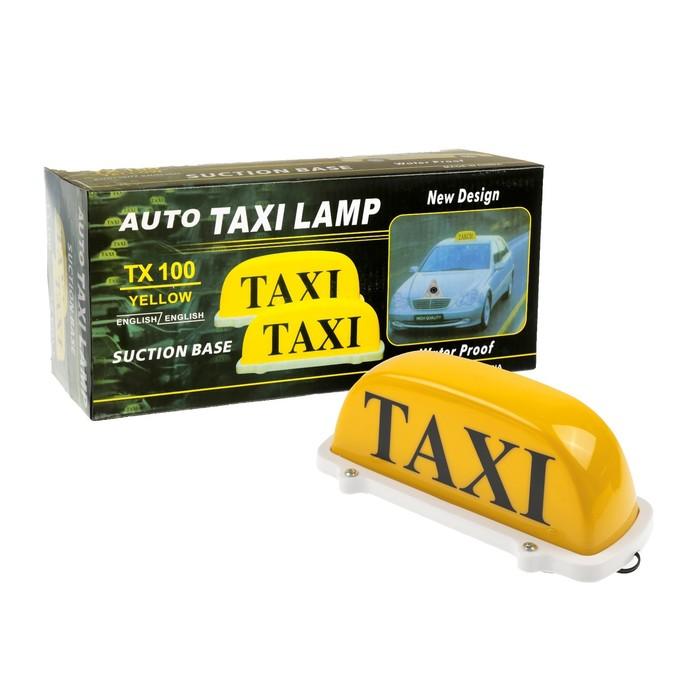 Знак такси желтый на присоске