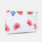 "Simple cosmetic bag ""Poppies"", the zipper, color white"