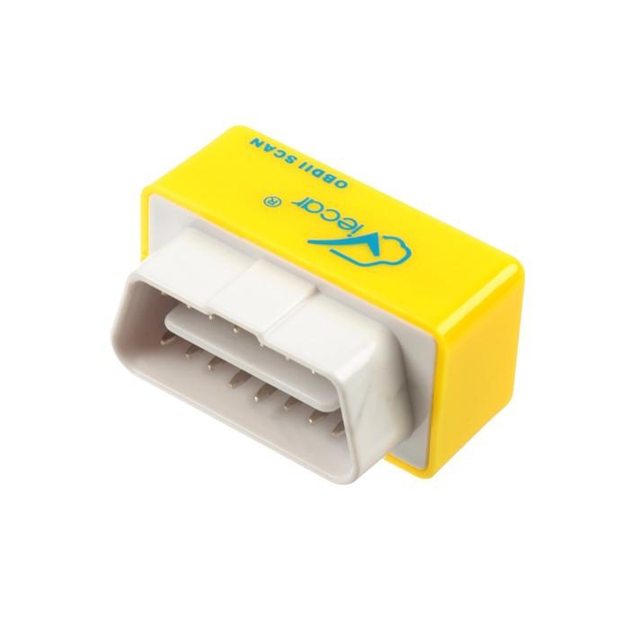 Адаптер для диагностики авто ОВD II, Bluetooth, мини, желтый
