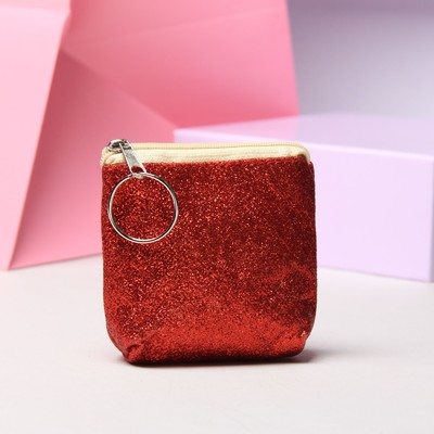 "Purse women ""Shine"", the Department with zipper, with ring, color red"