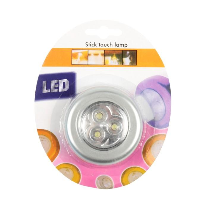 Светильник светодиодный автомобильный, 3 диода, серебро