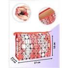 Cosmetic bag ^ Disco, 27*7,5*18, otd zipper, red