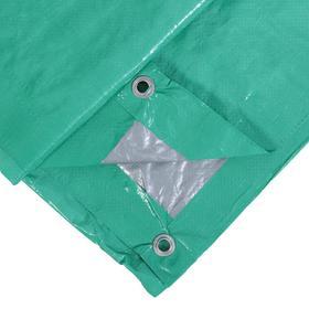 Тент защитный, 3 × 2 м, плотность 90 г/м², люверсы шаг 1 м, светло-зелёный Ош