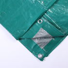 Тент защитный, 3 × 2 м, плотность 120 г/м², люверсы шаг 1 м, зелёный/серебристый