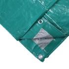 Тент защитный, 3 × 2 м, плотность 120 г/м², зелёный/серебристый