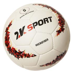 Мяч футбольный 2K Sport Crystal Elite Microfiber, white/red, размер 5