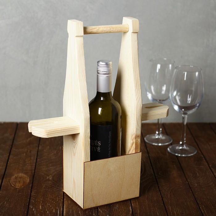 Подставка под бутылку и бокалы 37х33х11см