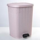 Ведро для мусора с педалью «Вязаный узор», 12 л, цвет МИКС