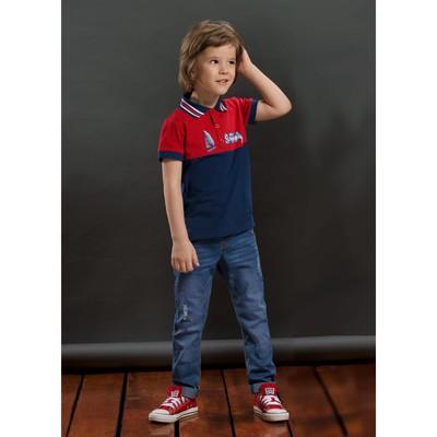 Брюки для мальчика, рост 98 см, цвет синий BWP3046
