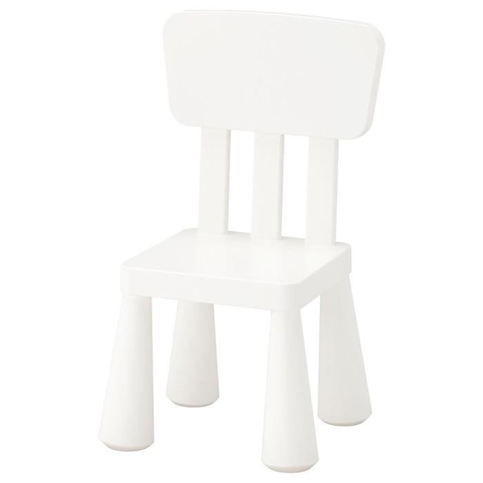 Детский стул МАММУТ, для дома и улицы, белый
