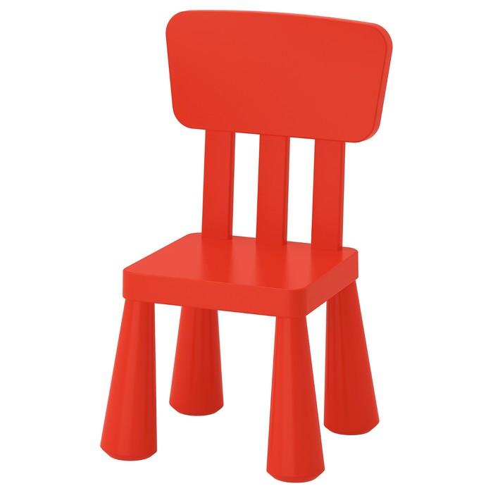 Детский стул МАММУТ, для дома и улицы, красный