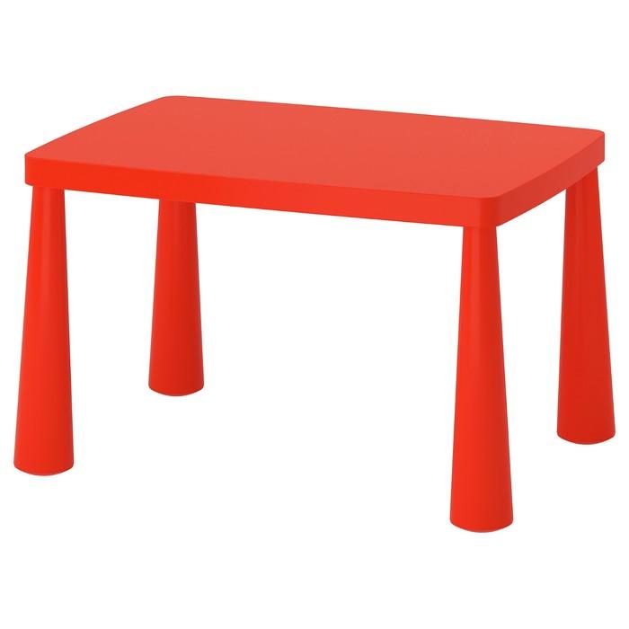 Стол детский МАММУТ, 77х55х45 см, для дома и улицы, красный