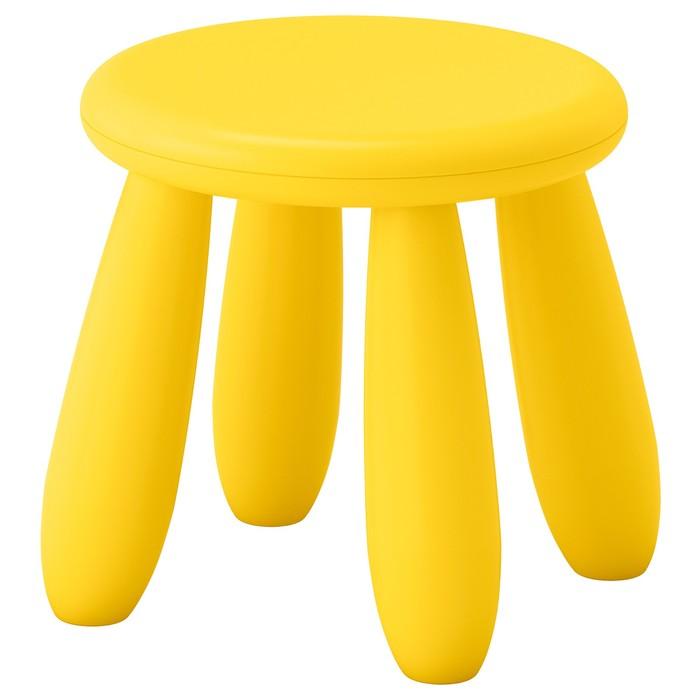 Табурет детский МАММУТ, для дома и улицы, желтый