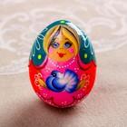 Яйцо «Матрёшка с голубем, 7 см, микс