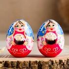 Яйцо «Матрёшка с куличом, 7 см, микс